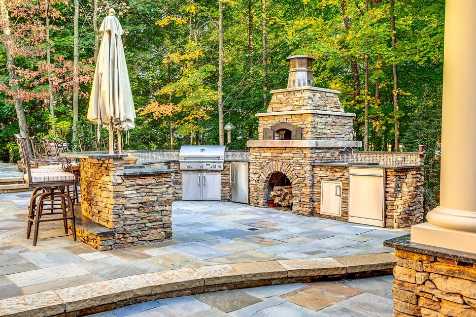 Stone Outdoor Kitchen