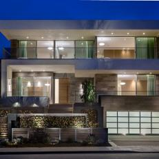 Modern House with Artful Facade