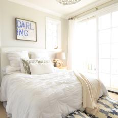 Bright and Cozy White Bedroom
