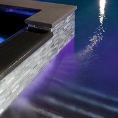 Contemporary Pool With Built-In Lighting Feature