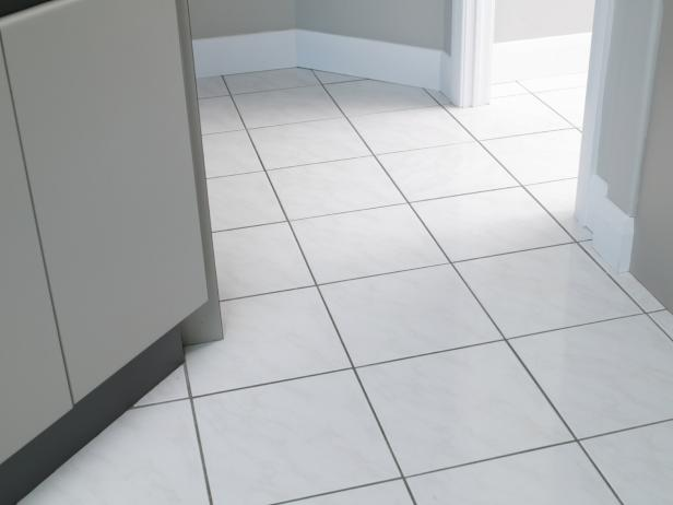 How To Clean Ceramic Tile Floors DIY - Cleaning dust after tile removal