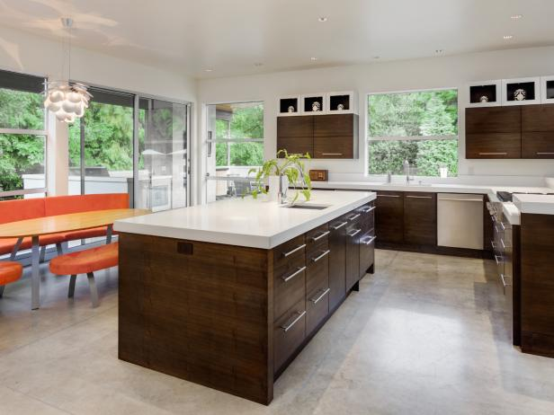 Kitchen in New Luxury Home : flooring-ideas-for-kitchens - designwebi.com
