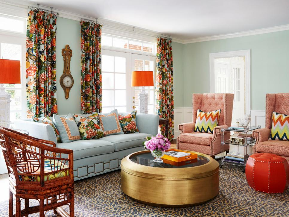 Magnificent 20 Colorful Living Rooms To Copy Hgtv Interior Design Ideas Tzicisoteloinfo