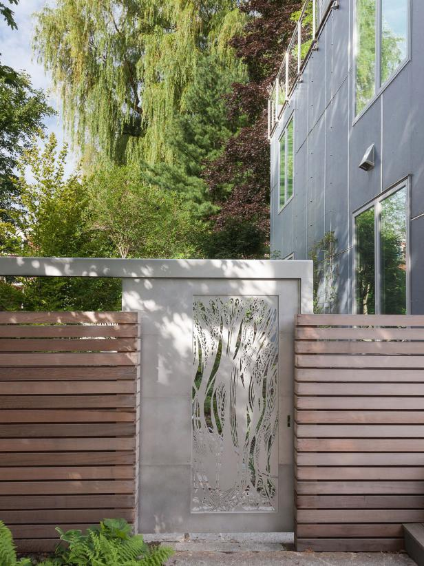 Urban Garden Gate in Western Red Cedar Fence