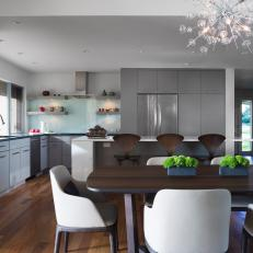 Contemporary Kitchen and Dining Space
