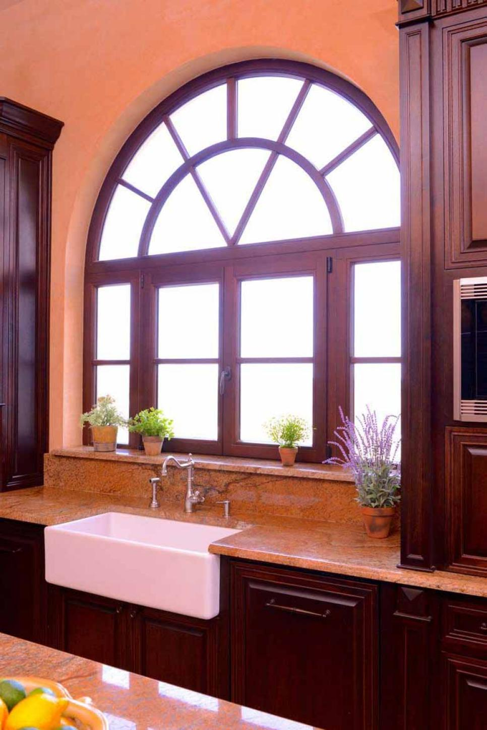 Brown Traditional Kitchen