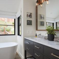 White, Modern Bathroom with Loads of Light