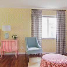 Pattern Mixing in a Colorful, Cottage Master Bedroom
