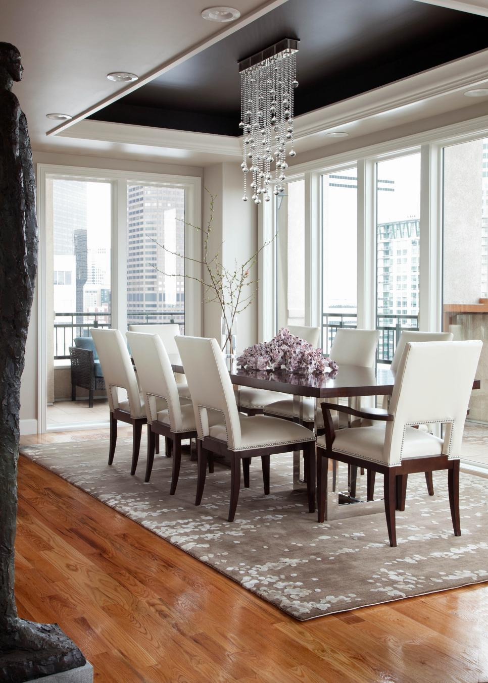 White Transitional Dining Room