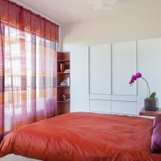 Modern Bedroom Features Burst of Colors With Sleek, Clean Armoire