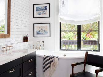 Black and White Vintage Master Bathroom