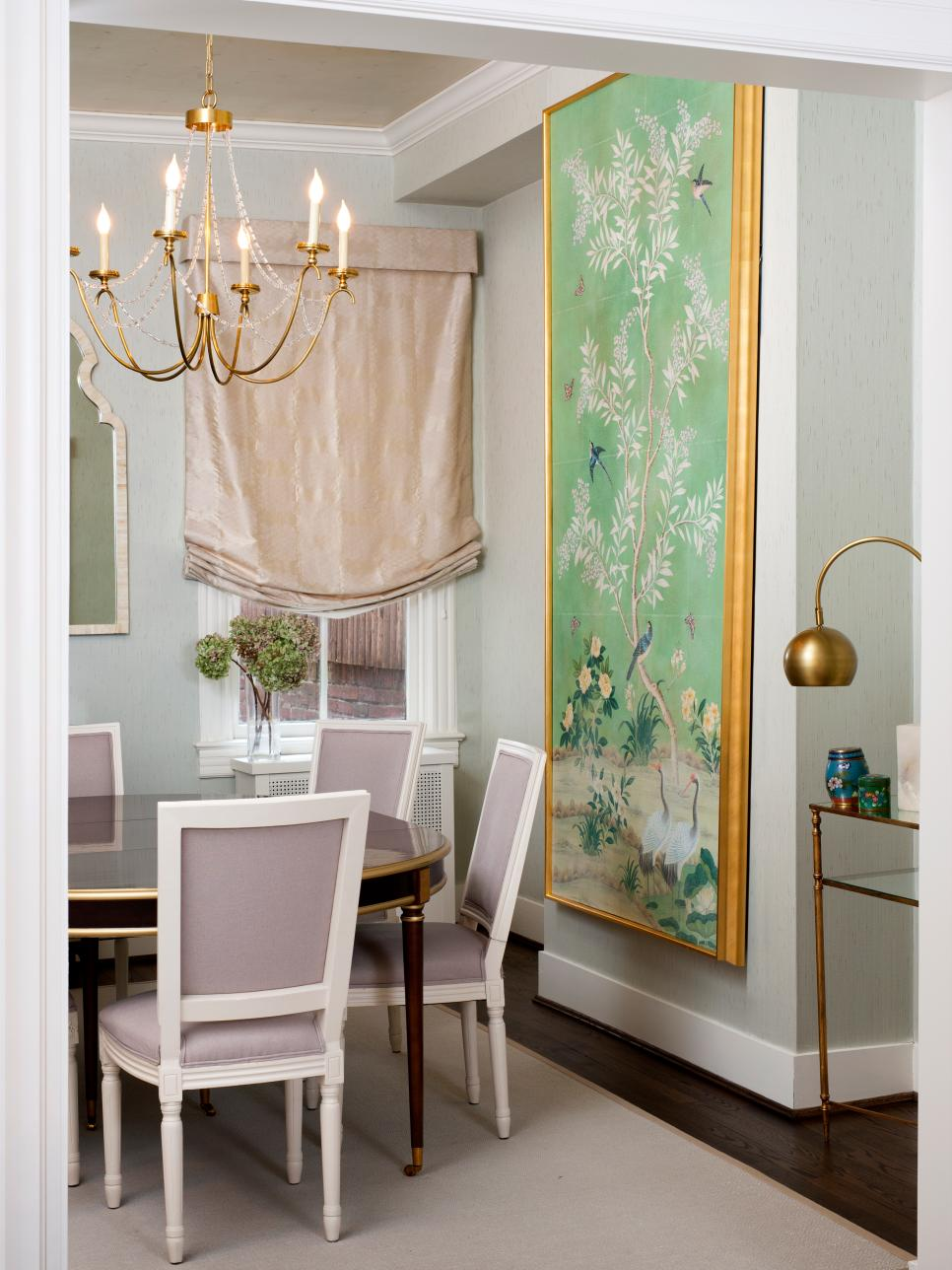 Gold Accents in Dining Room