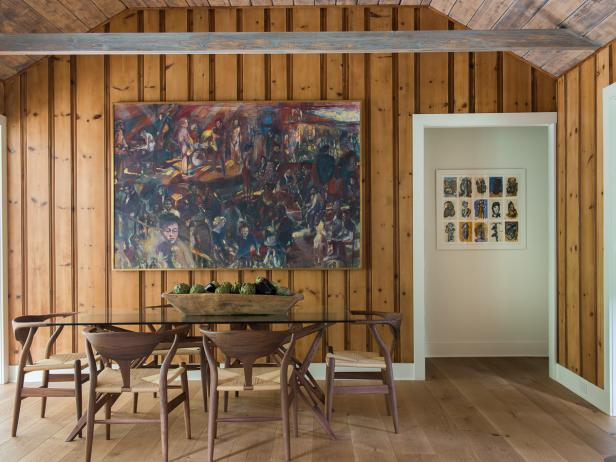 Wood Panel Dining Room