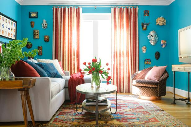 Small Global Style Living Room Hgtv