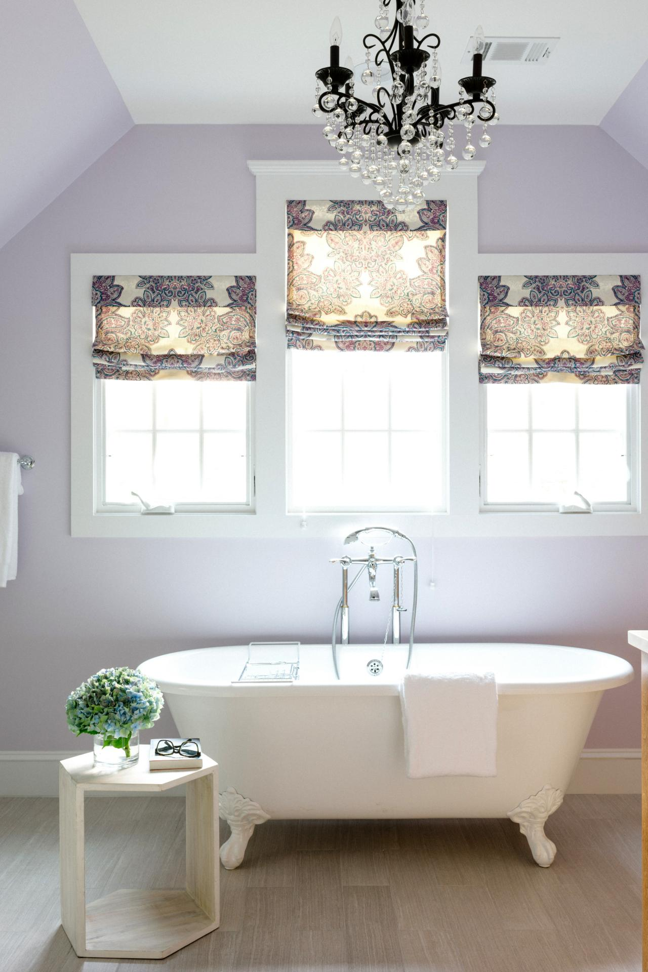 Claw Foot Tub In Light Purple Master Bathroom Hgtv