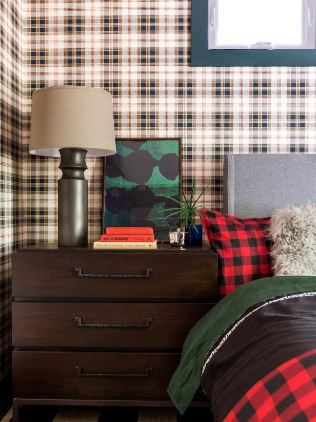 HGTV Dream Home 2017: Dark Wood 3-Drawer Chest in Guest Bedroom