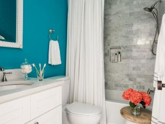 Bathroom Color and Paint Ideas: Pictures & Tips From HGTV | HGTV on ceiling designs with paint, bathroom remodeling ideas with paint, bathroom makeover with paint,