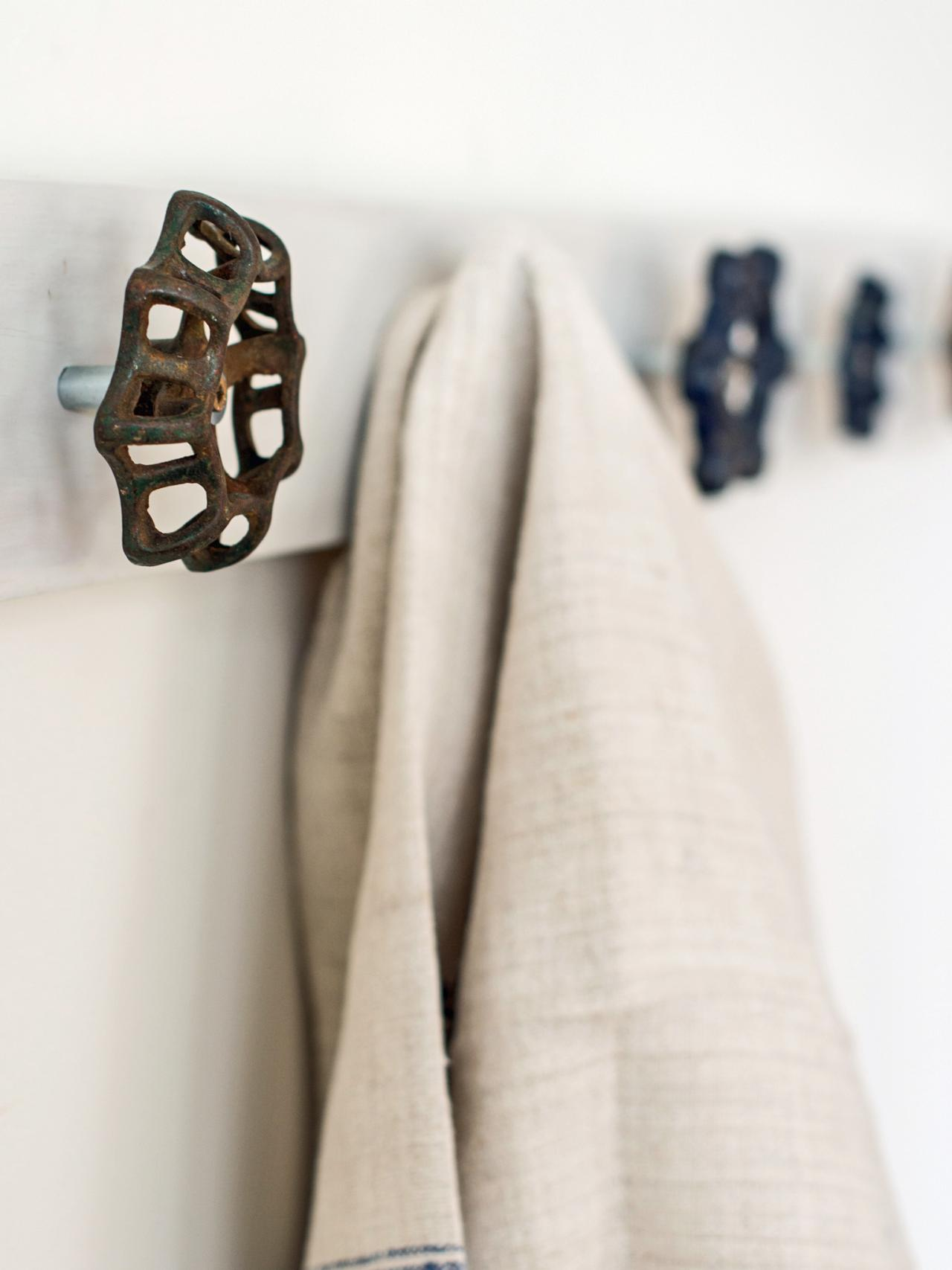 Upcycle Vintage Spigot Handles Into a Trendy Towel Rack | HGTV