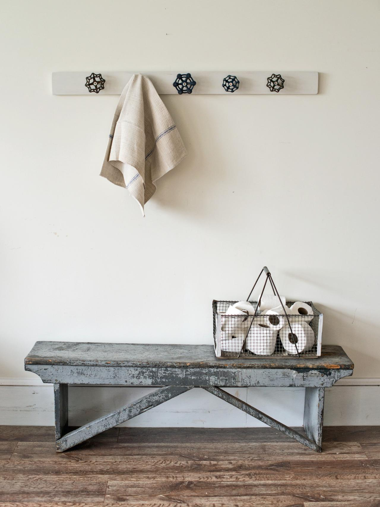 Upcycle Vintage Spigot Handles Into a Trendy Towel Rack | HGTV