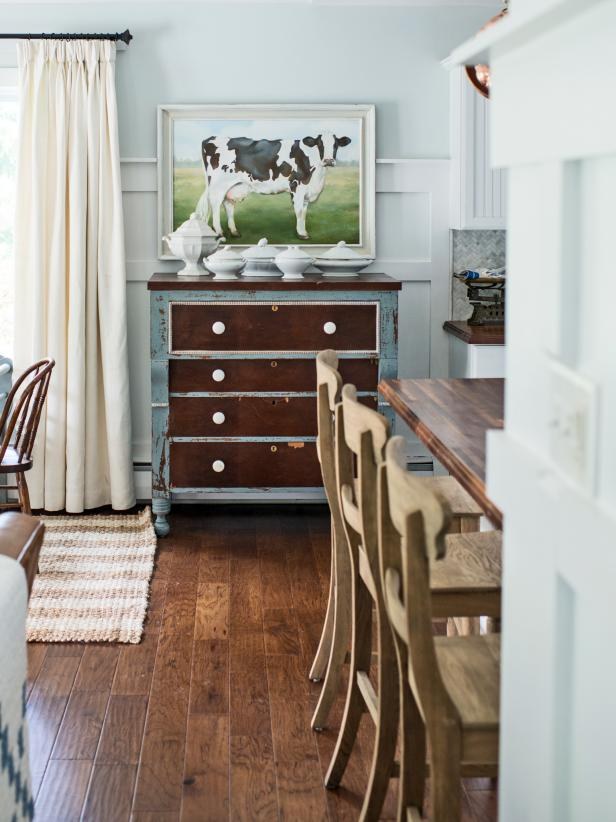 Wall treatments that add architectural interest to a room are definitely a trend in home décor. This ¾ wainscoting treatment based on a design found in a historic home, is a relatively easy diy project that will boost the wow factor in any space.