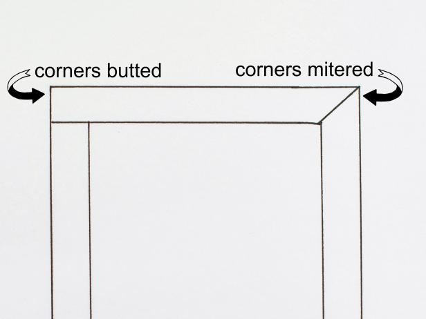 Where corners meet, wood can be butted together or mitered.