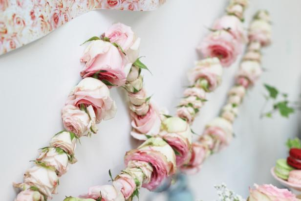 Diy Rose Garland For Themed Baby Shower