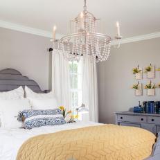 Gray Cottage Master Bedroom With Pocket Vases