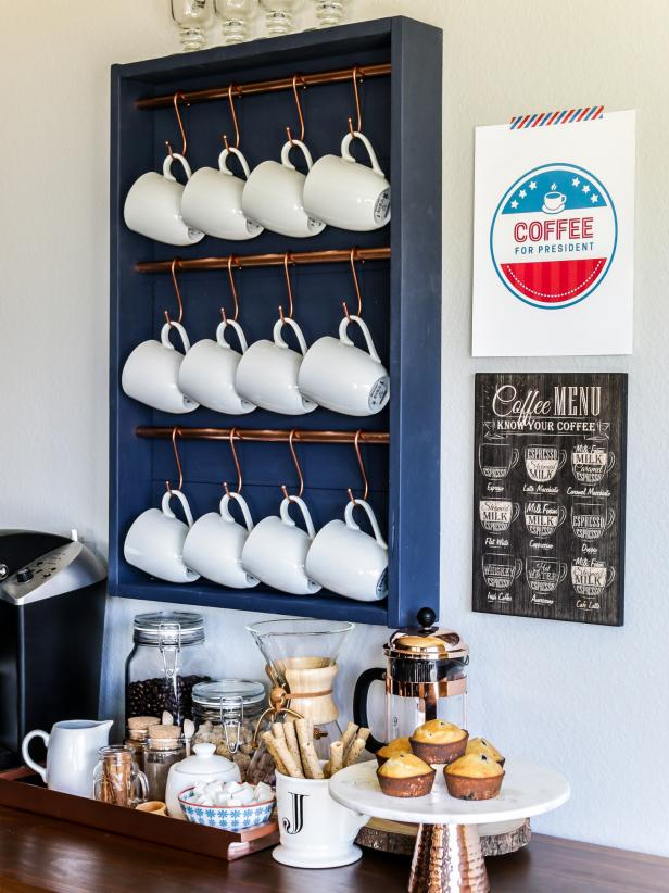 Upgrade Your Kitchen With A Stylish Diy Coffee Bar Hgtv