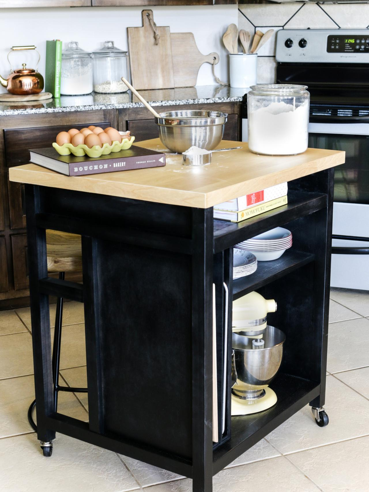 how to build a movable kitchen island how to build a diy kitchen island on wheels hgtv 27748