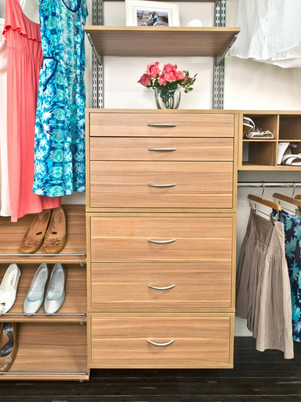 Adjustable Closet Storage System