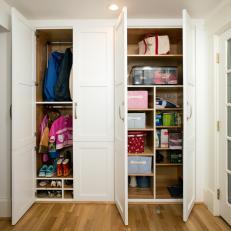 Organized Mudroom Closets