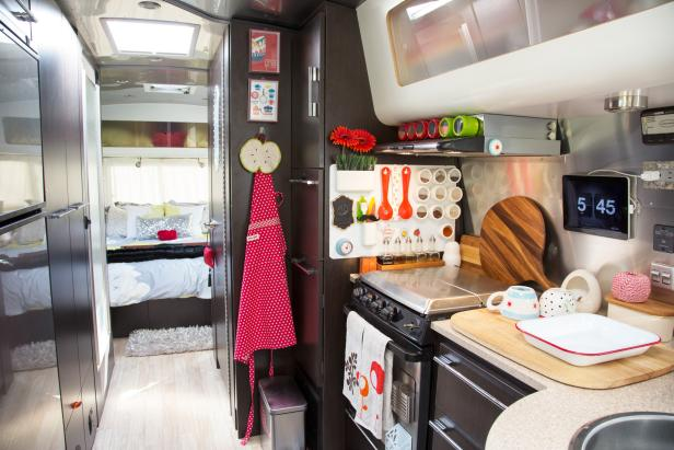 Tiny Airstream Kitchen With Smart Storage