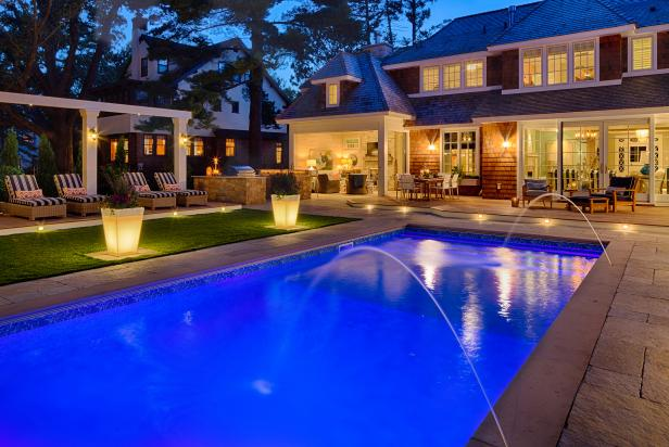 Outdoor Entertaining Space with a Pool