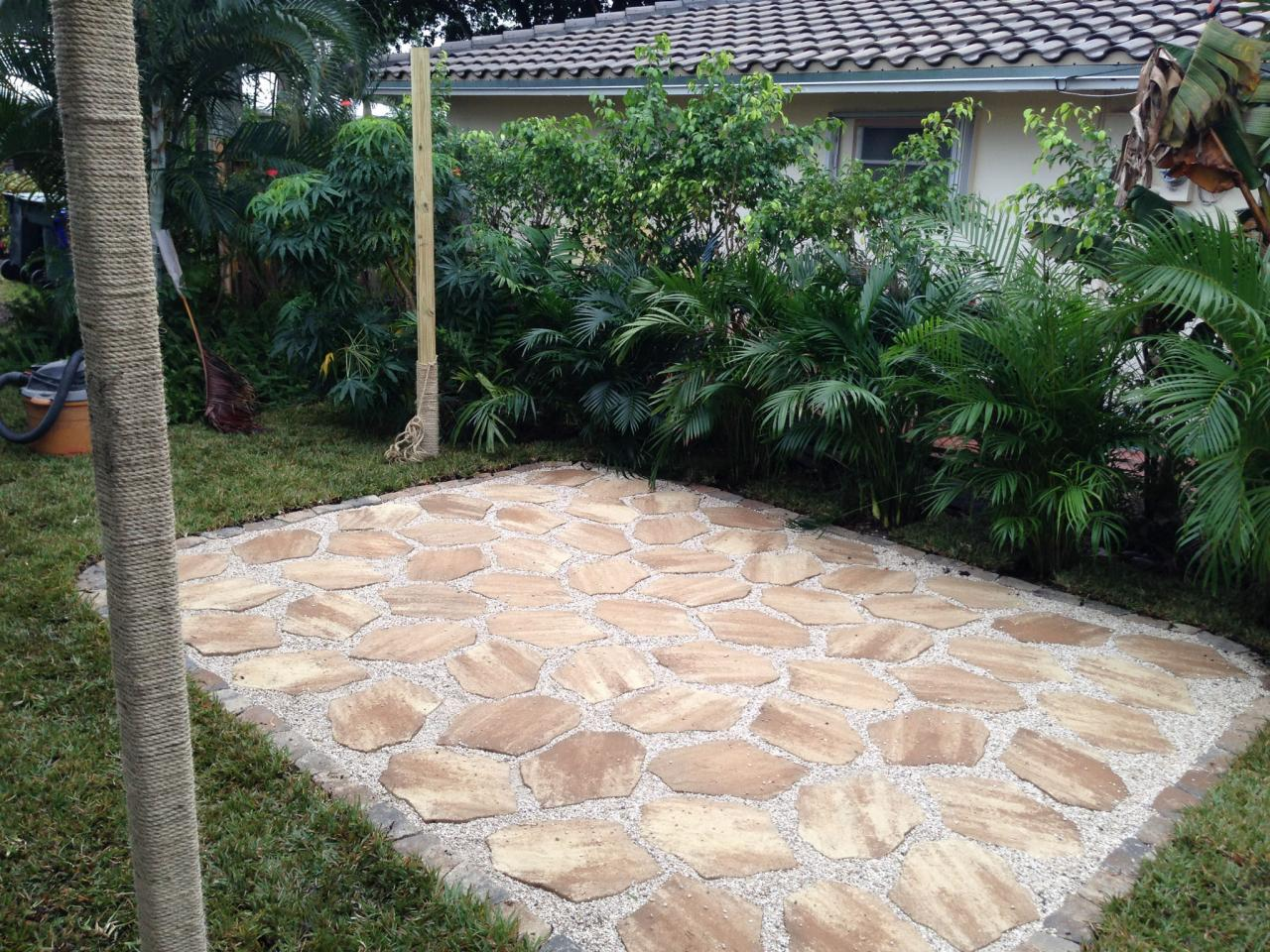 Add outdoor living space with a diy paver patio hgtv diy paver patio solutioingenieria Images