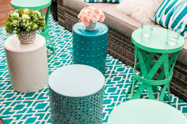 HGTV Spring House 2016: Easy Outdoor Dining With Occasional Tables
