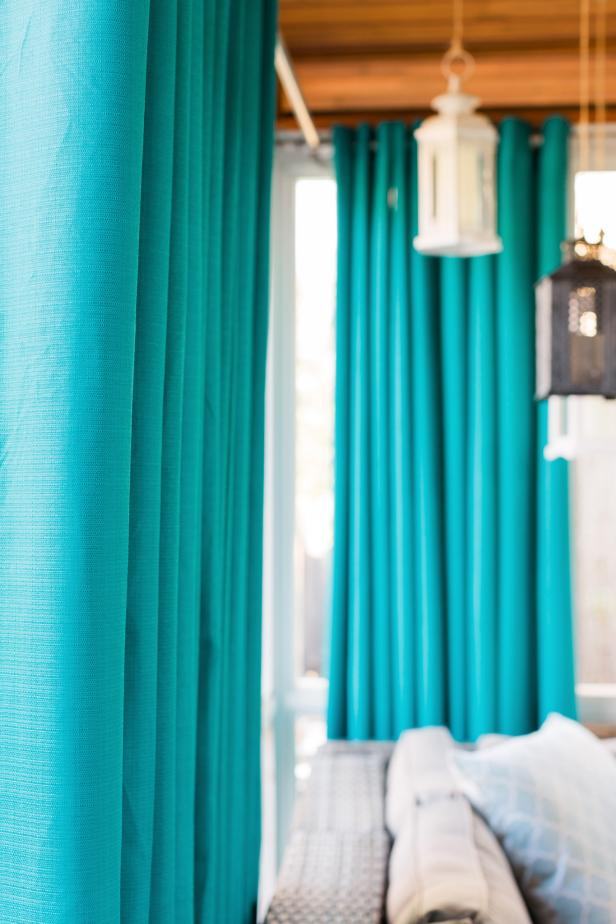HGTV Spring House 2016: Screened Porch With Privacy Drapes