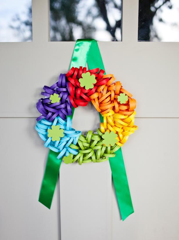 Rainbow Wreath Diy