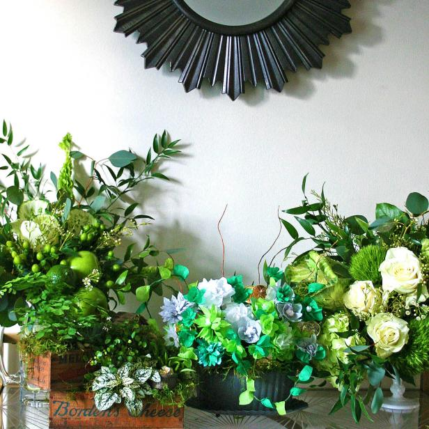 Easy DIY St. Patrick's Day Flower Arrangements