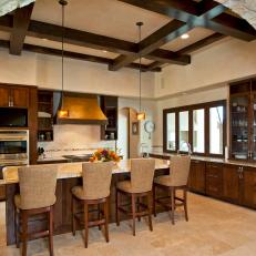 Clean-Lined Kitchen with Tuscan Elements