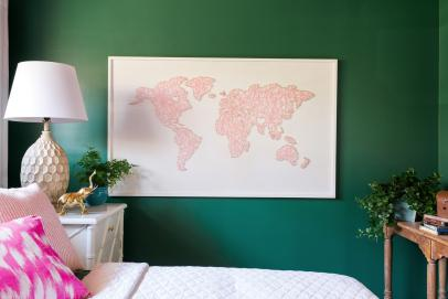 How to Make a Large-Scale World Map String Art | HGTV