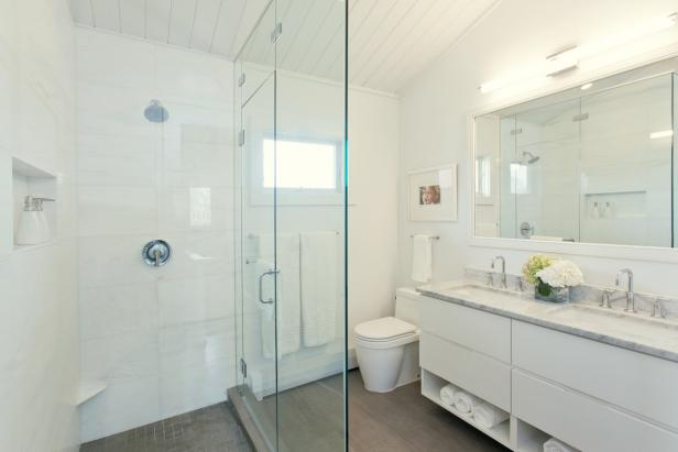 Glass Shower in Small Bathroom