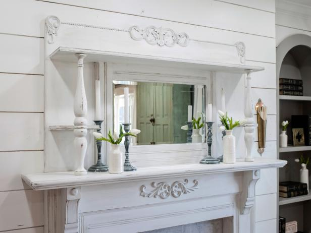 Restored White Mantel and Fireplace