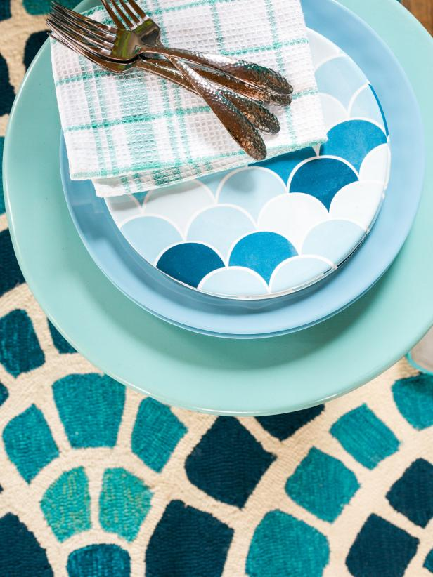 HGTV Spring House 2016 Blue Place Setting With Silverware