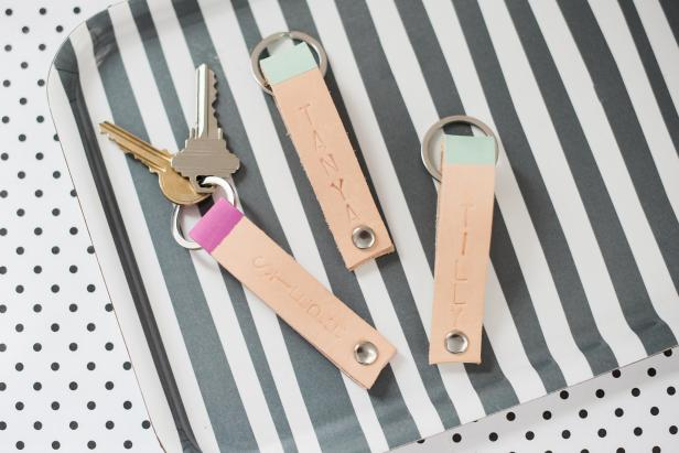 Personalized Leather Key Ring DIY