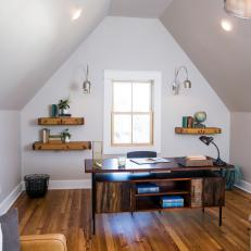 Loft Home Office Tiny Vintage House