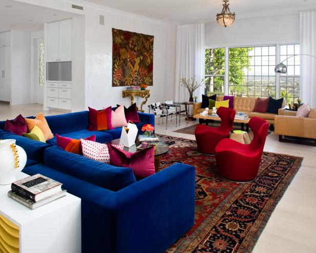 Eclectic Multicolor Living Room