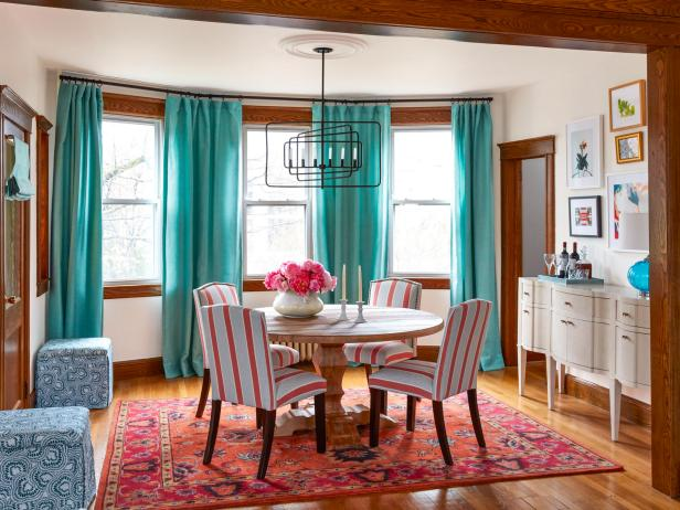 Colorful And Cozy Living And Dining Room Makeover Hgtv