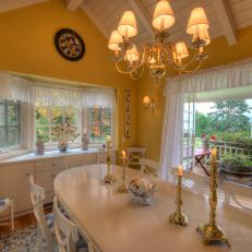 Yellow Cottage Dining Room With View