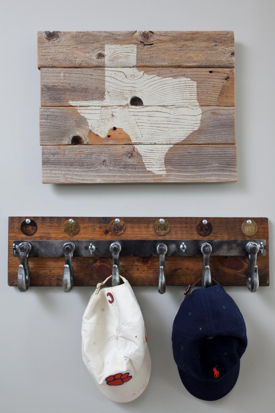 Hat Rack on Wall