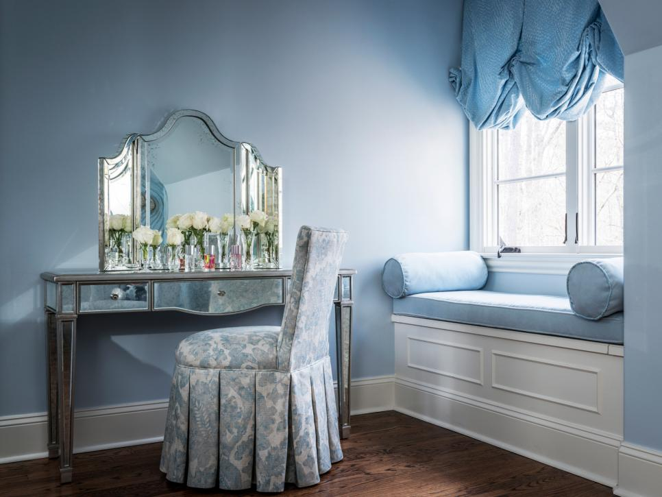 Blue Traditional Bedroom Fit for a Princess